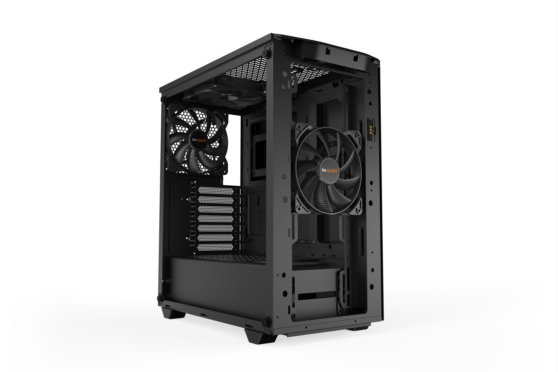 Be Quiet! Pure Base 500DX - Desktop - PC - Acrylnitril-Butadien-Styrol (ABS) - Stahl - Gehärtetes Glas - Schwarz - ATX,Micro ATX,Mini-ATX - Rot/Grün/Blau