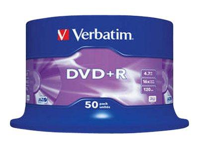 Verbatim 50 x DVD+R - 4.7 GB 16x - mattsilber