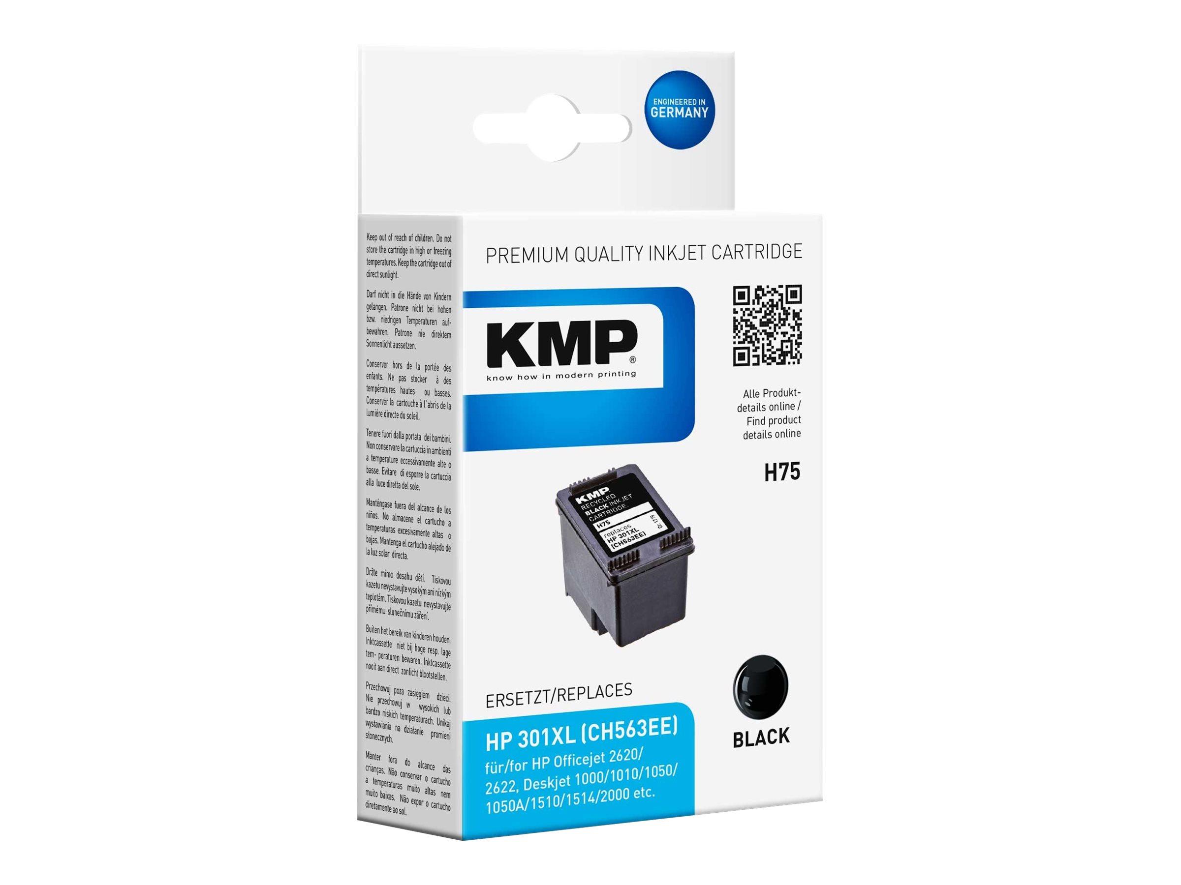 KMP H75 - 8 ml - Schwarz - kompatibel - Tintenpatrone