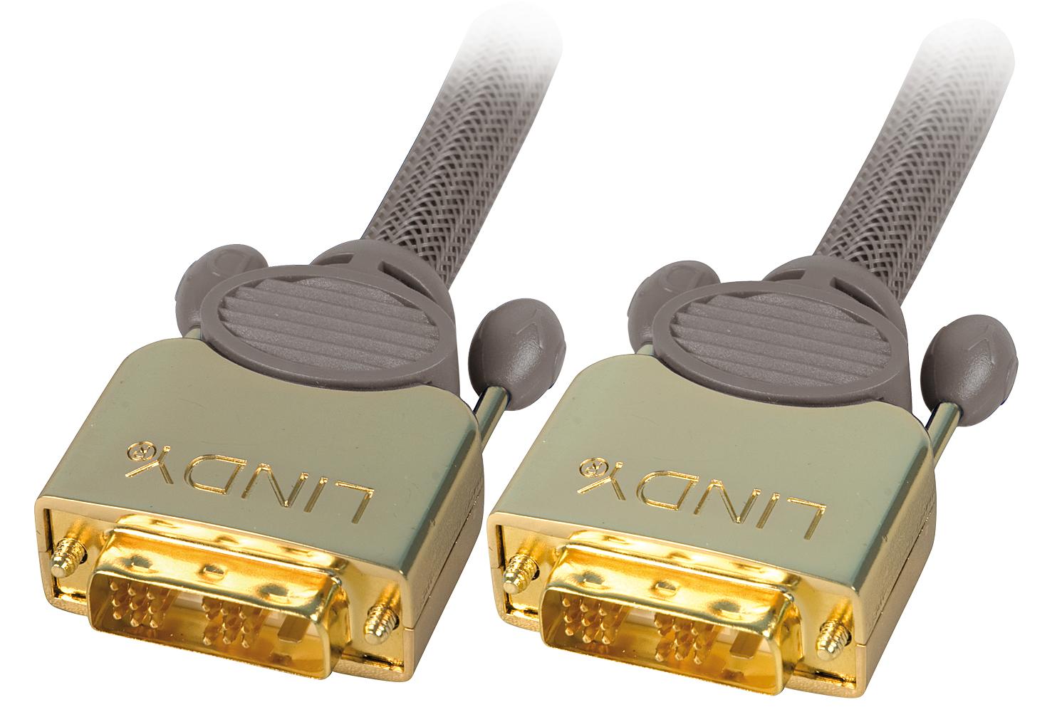 Lindy Premium Gold Super Long Distance - DVI-Kabel - Single Link