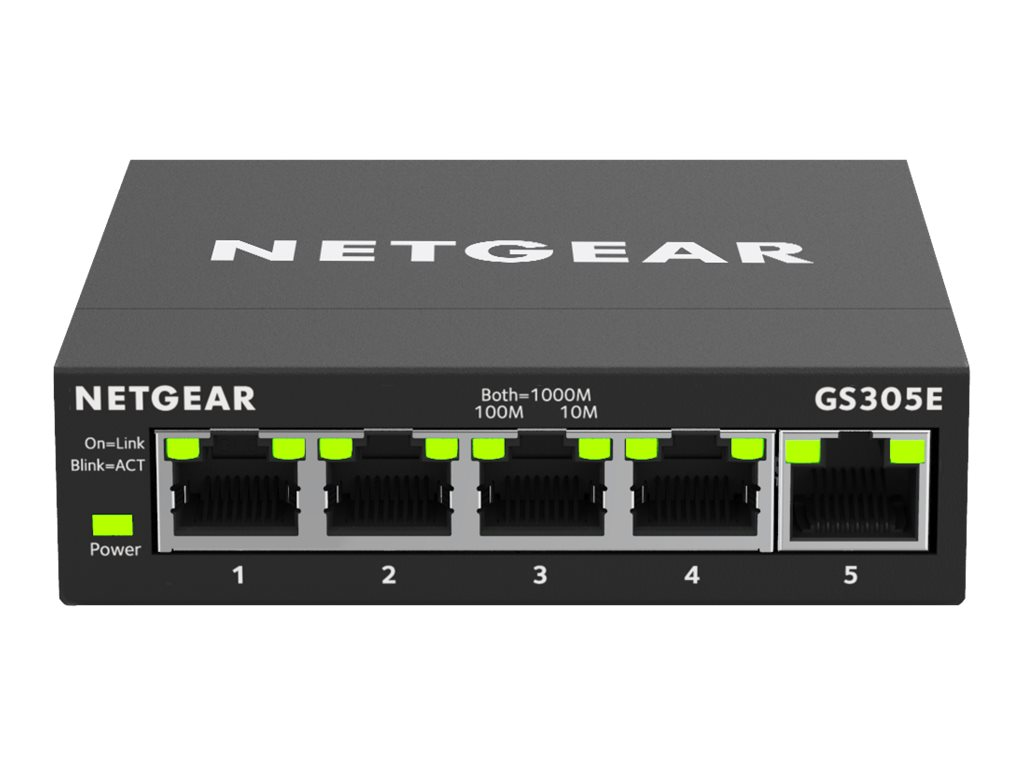 Netgear GS305E - Switch - Smart - 5 x 10/100/1000