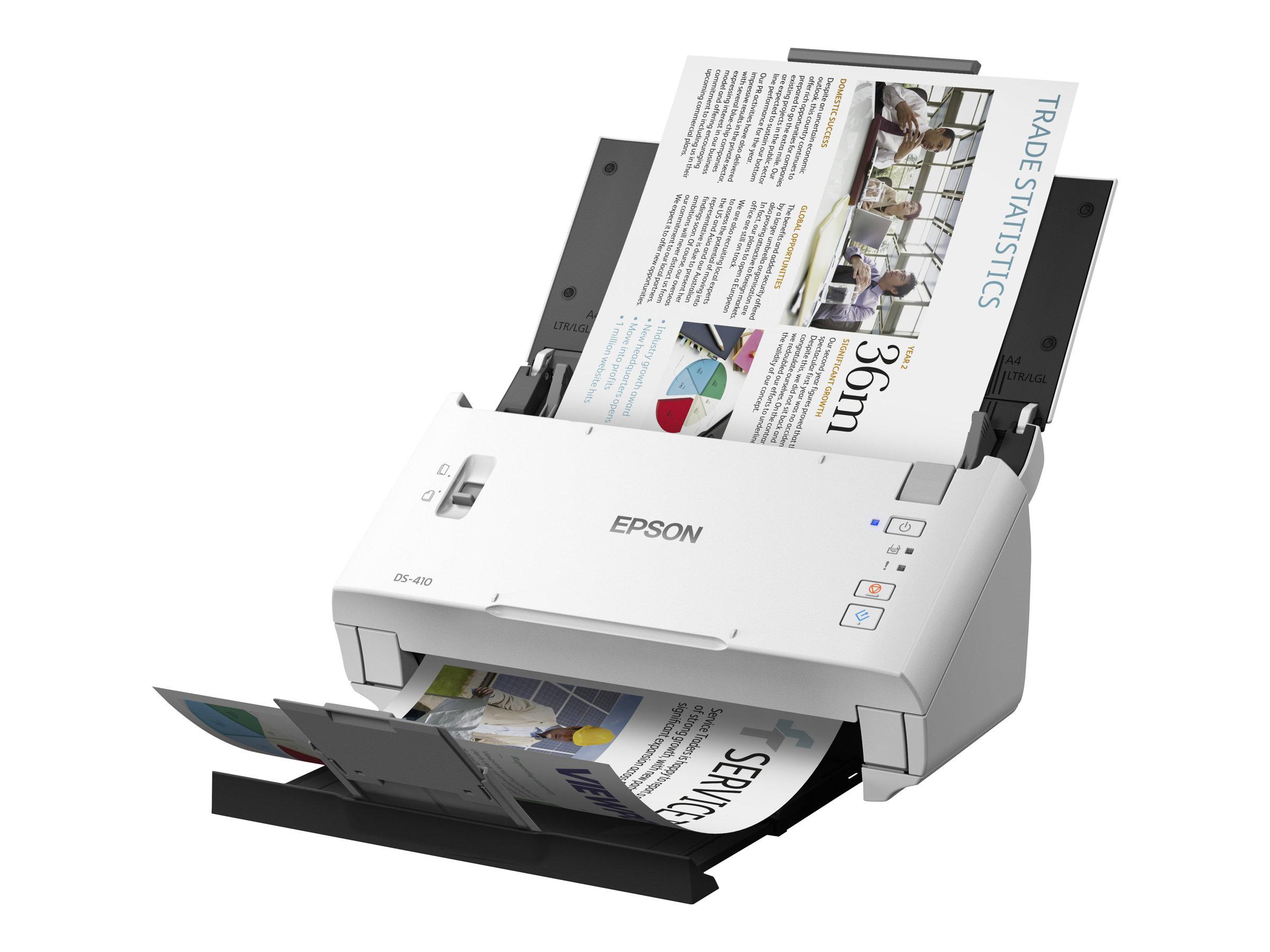 Epson WorkForce DS-410 - Dokumentenscanner - Duplex - A4 - 600 dpi x 600 dpi - bis zu 26 Seiten/Min. (einfarbig)