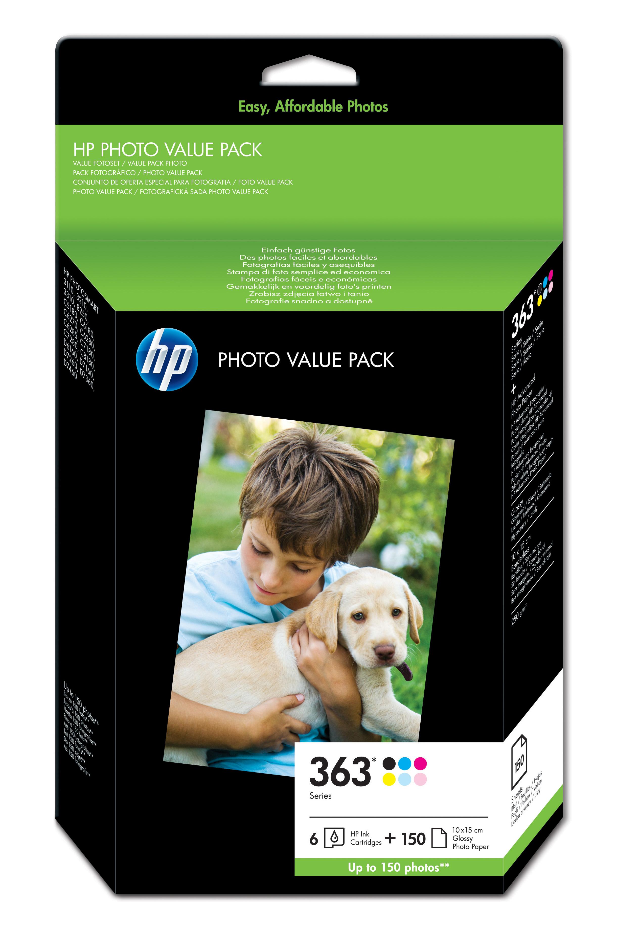 HP 363 Series Photo Value Pack - Schwarz, Gelb, Cyan, Magenta, hell Magenta, hell Cyan