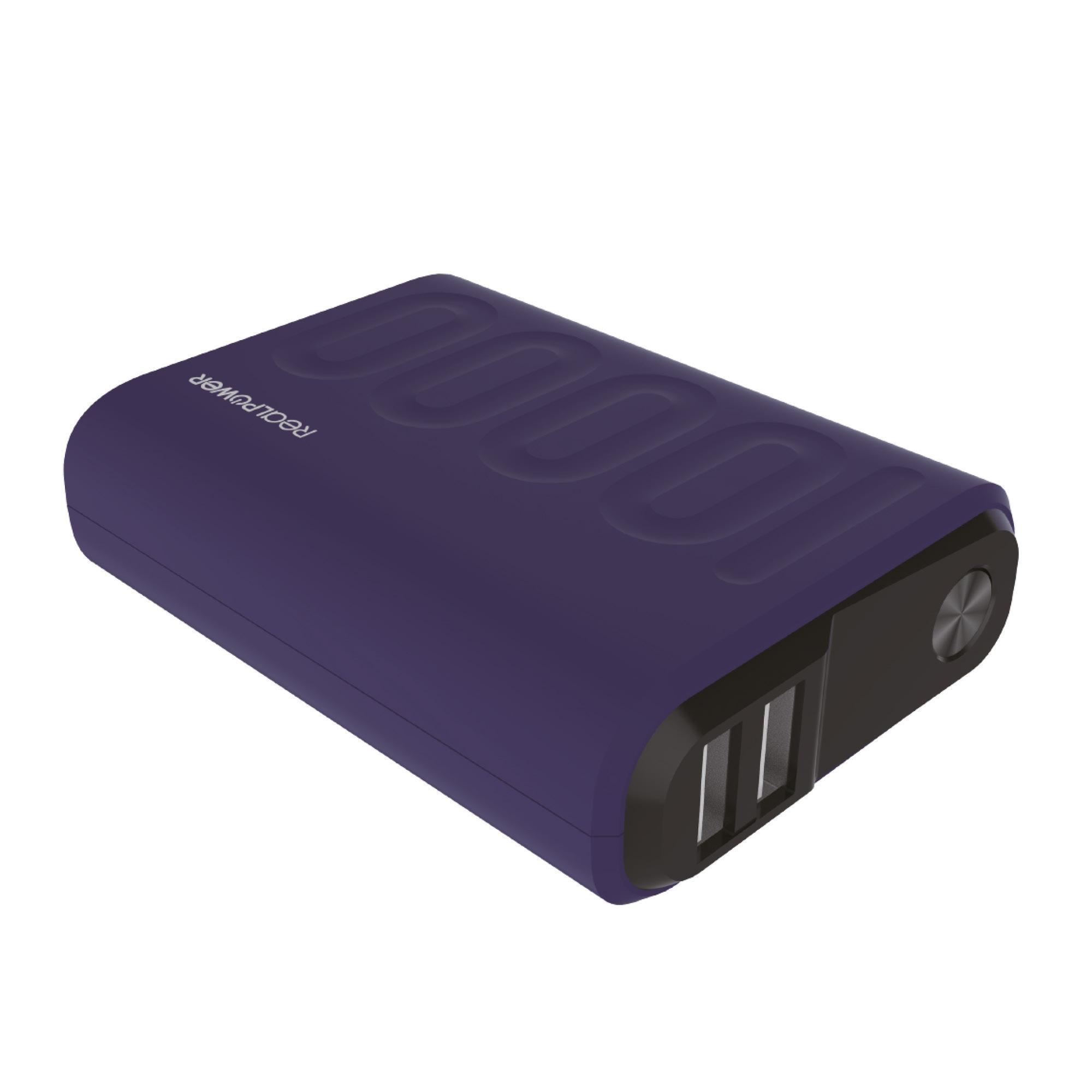 RealPower PB-10000PD - Navy - Universal - Rechteck - 10000 mAh - USB - 5 - 9 - 12 V