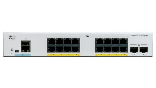 Cisco Catalyst 1000-16T-2G-L - Switch - managed - 16 x 10/100/1000 + 2 x Gigabit SFP (Uplink)