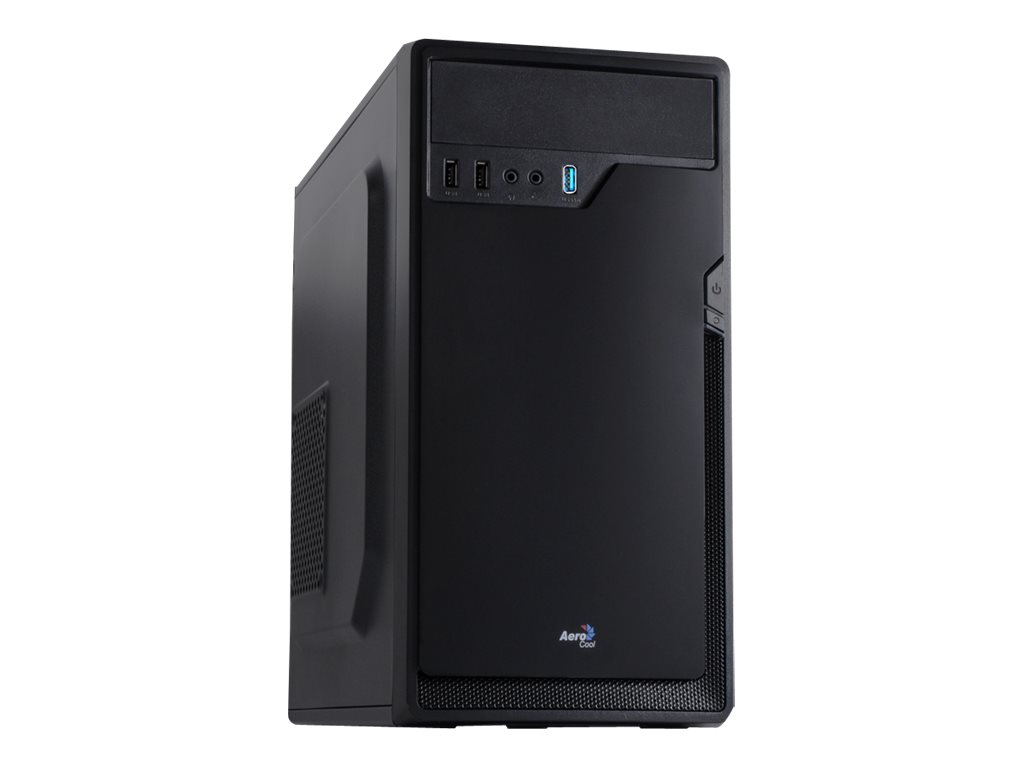 AEROCOOL ADVANCED TECHNOLOGIES AeroCool Corporate CS-100 Advance - Mini Tower - micro ATX - ohne Netzteil (ATX / PS/2)