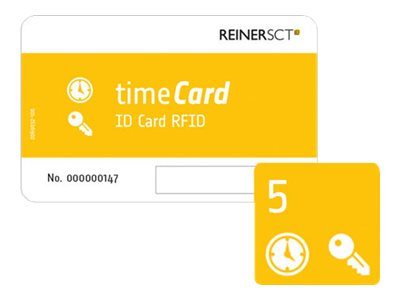 ReinerSCT timeCard ID Card RFID - RF Proximity Card (Packung mit 5)