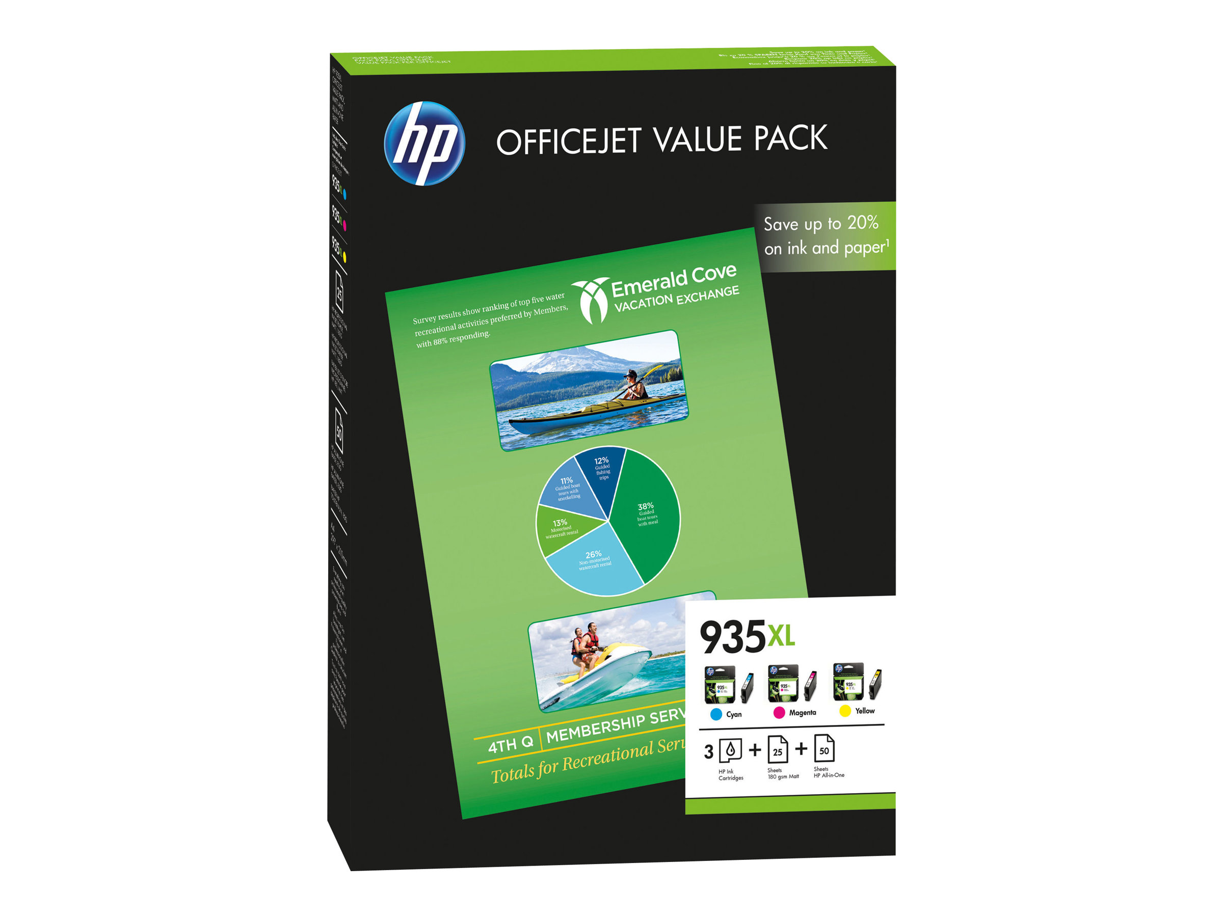 HP 935XL - 3er-Pack - Gelb, Cyan, Magenta - Original