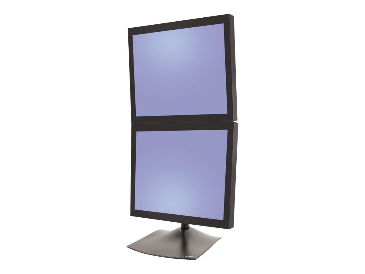 Ergotron DS100 Dual-Monitor Desk Stand, Vertical - Aufstellung - für 2 LCD-Displays - Stahl, langlebiges Aluminium - Schwarz - Bildschirmgröße: bis zu 68,6 cm (bis zu 27 Zoll)