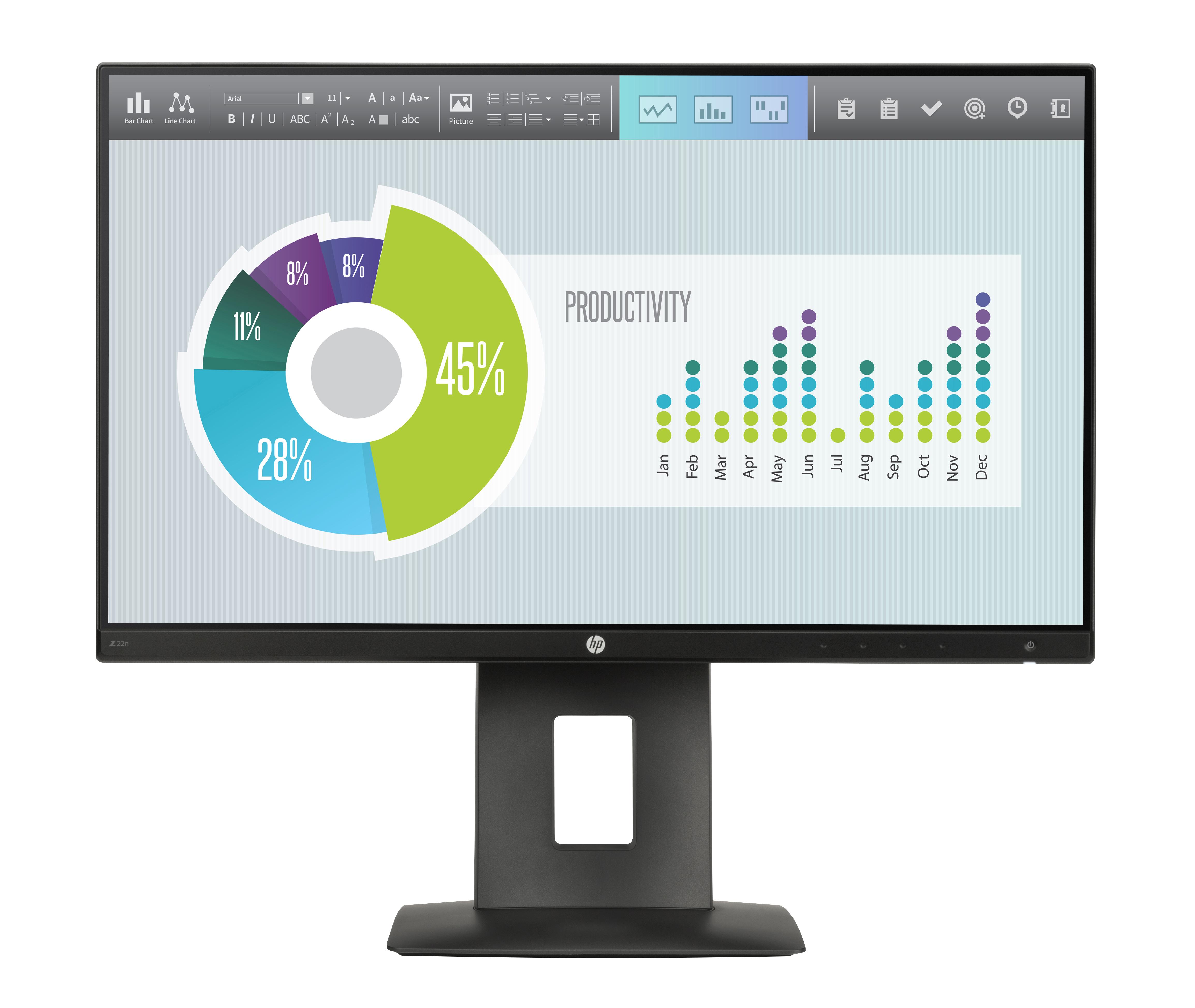 HP Z22n - LED-Monitor - 54.6cm/21.5