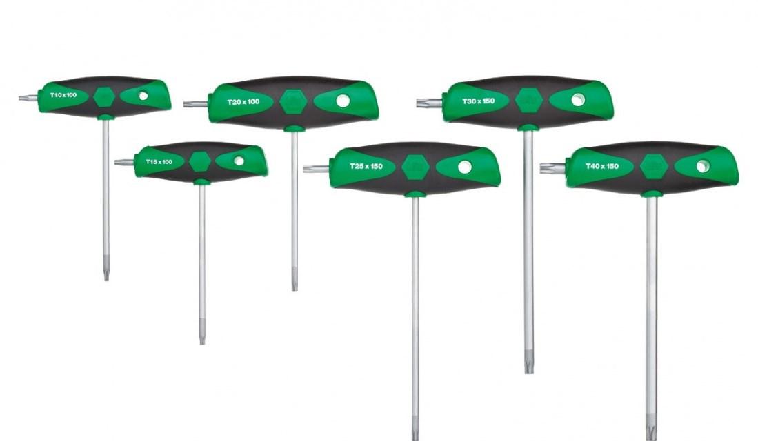 Wiha 364DS K6 - L-Torx-Schlüssel - T10,T15,T20,T25,T30,T40 - Schwarz - Grün - 6 Stück(e)