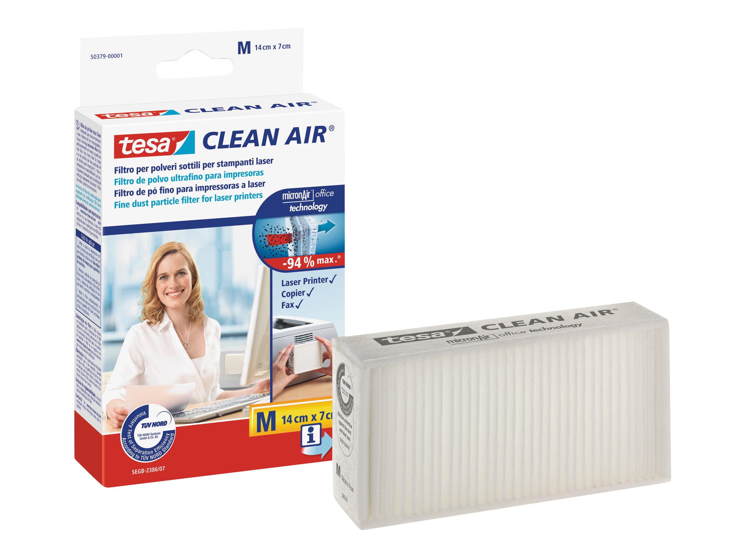Tesa Clean Air M - Feinstaubfilter für Drucker