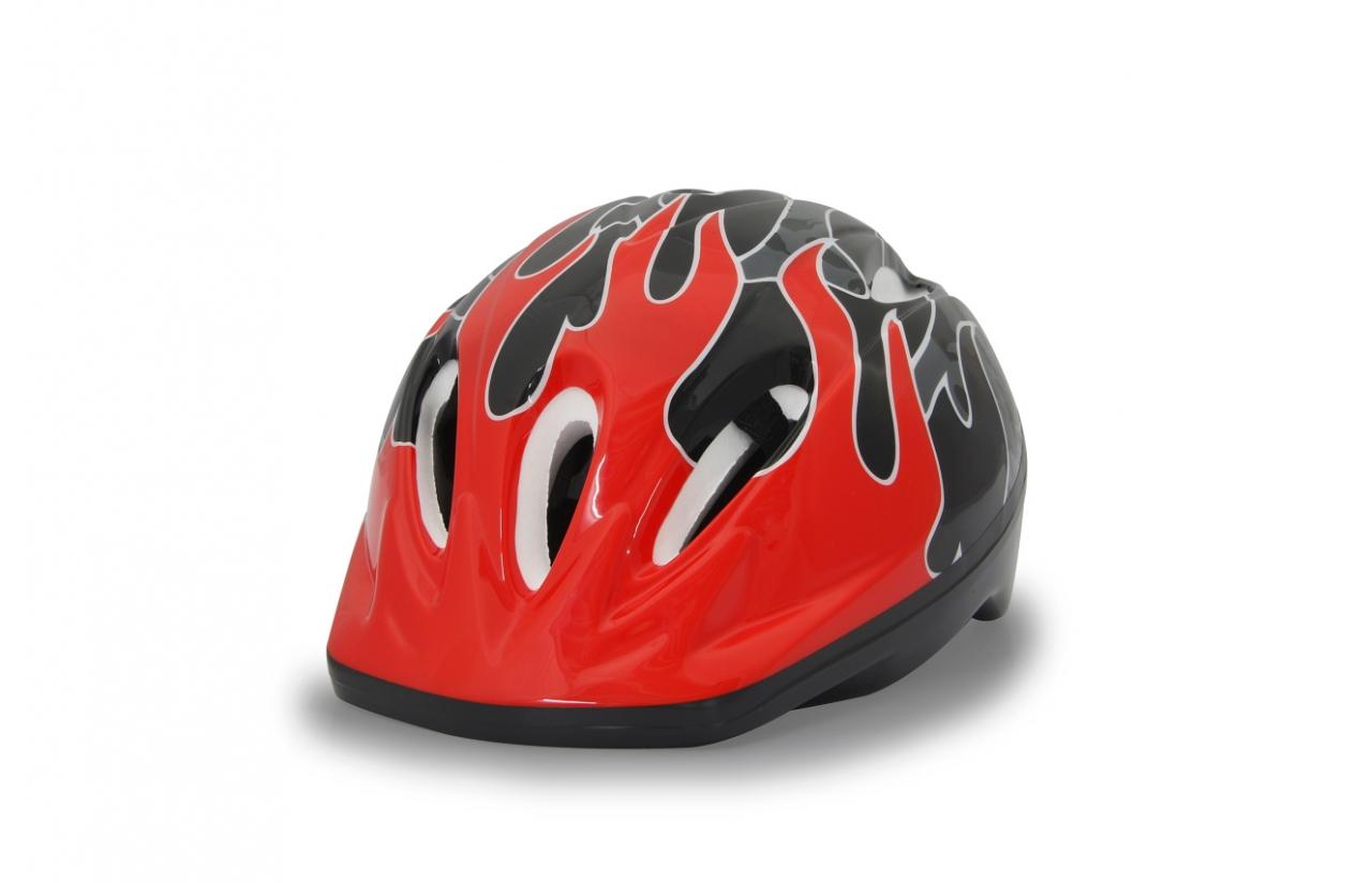 JAMARA 460632 - Halbschale - City-Fahrradhelm - M - Harte Schale - Expandiertes Polystyrol (EPS) - Schwarz - Rot