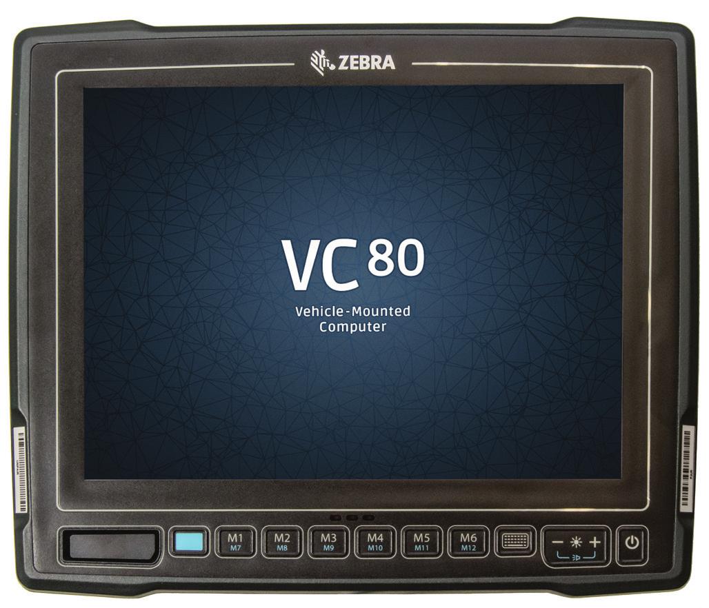 Zebra VC80 POS-Terminal 26,4 cm (10.4 Zoll) 1024 x 768 Pixel Touchscreen 1,91 GHz E3845 Schwarz