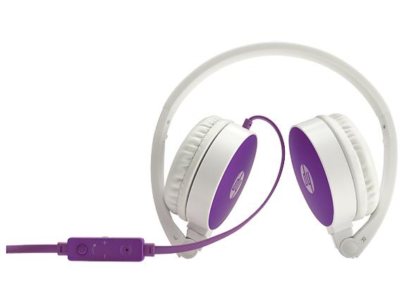 HP H2800 Binaural Kopfband Violett - Weiß Headset