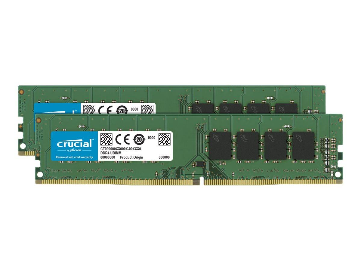 Crucial DDR4 - 32 GB: 2 x 16 GB - DIMM 288-PIN