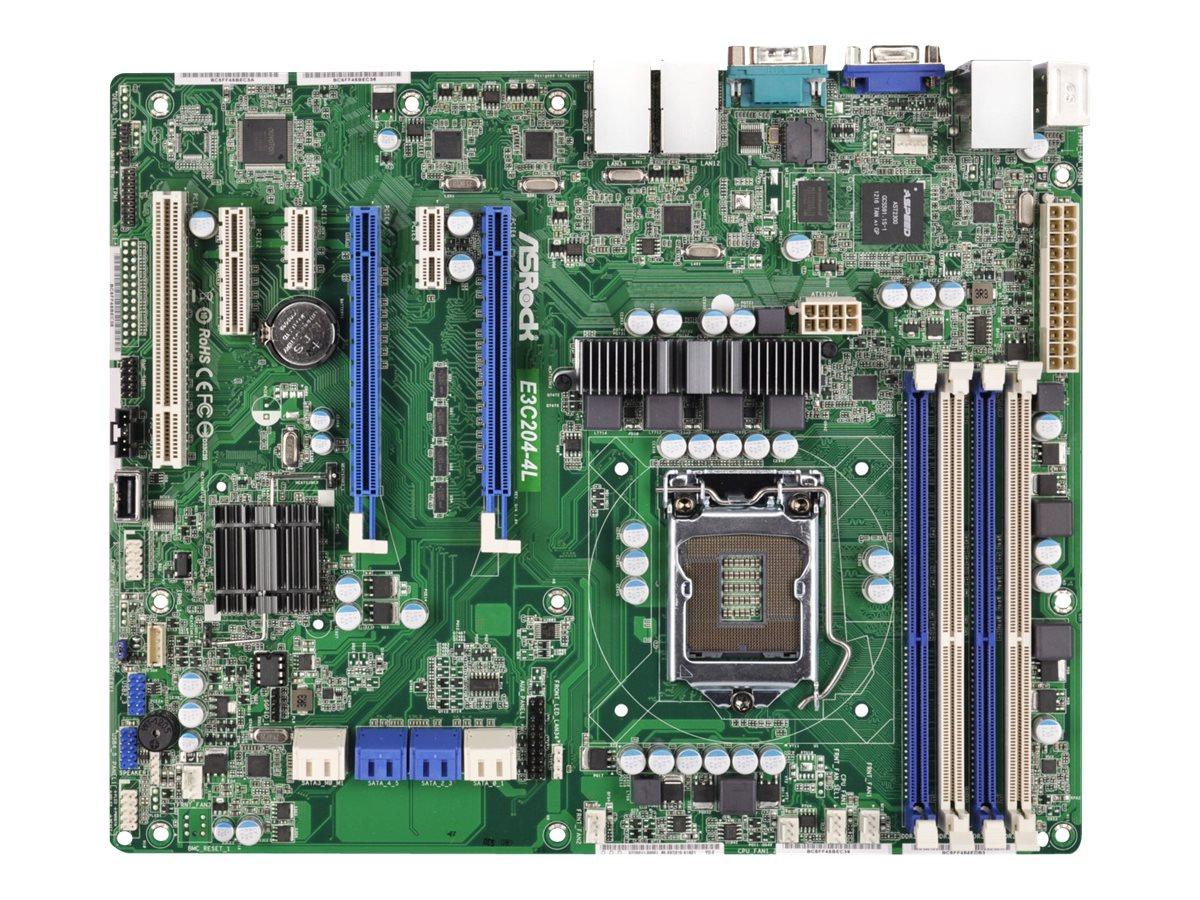 ASRock Rack E3C204-4L - Motherboard - ATX - LGA1155-Sockel
