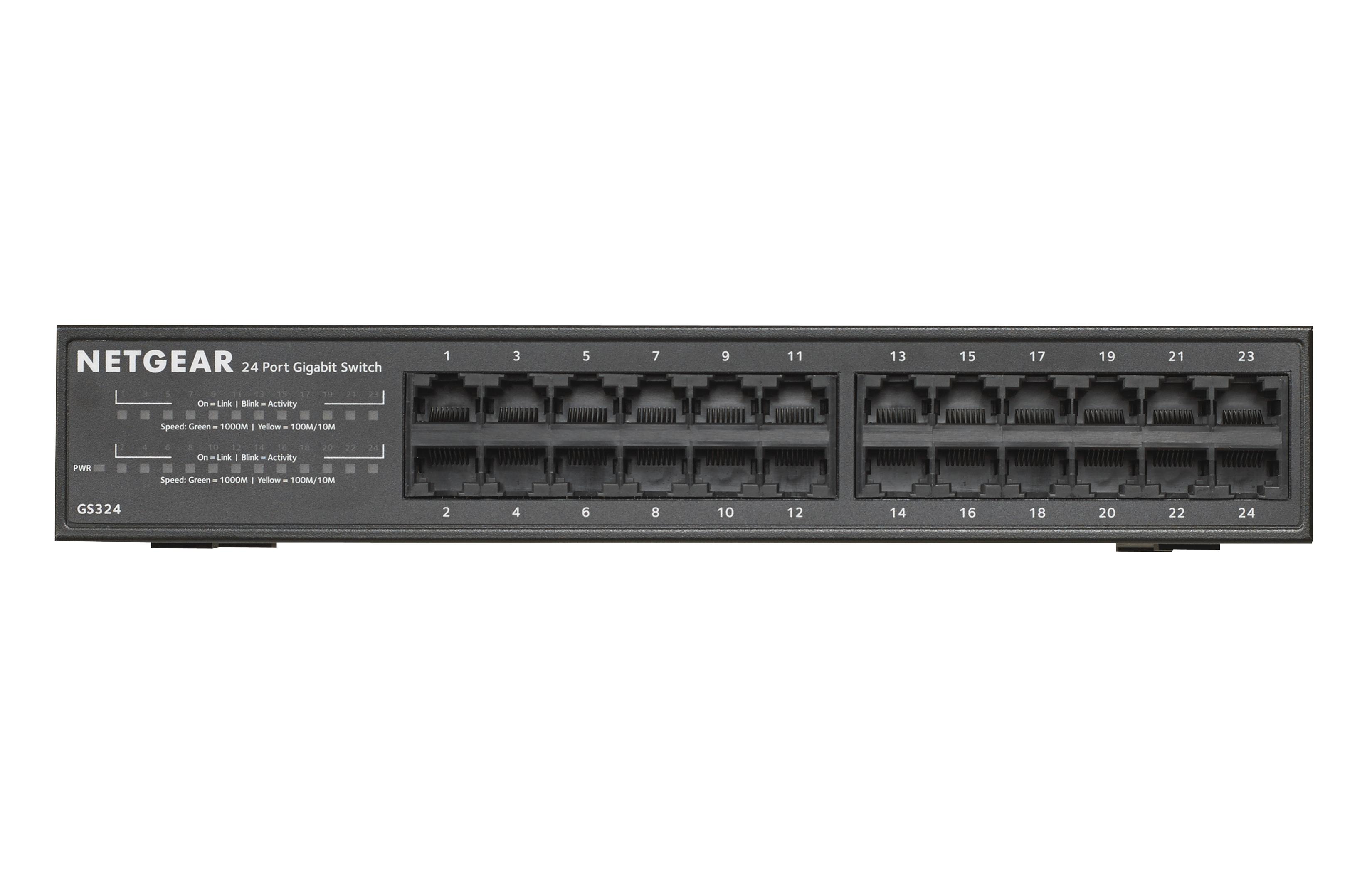 Netgear SOHO Gigabit Ethernet Switch GS324 - Switch - nicht verwaltet