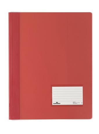 Durable Schnellhefter transluzent - A4 - PVC - Rot - Porträt - 1 Taschen - 57 x 90 mm