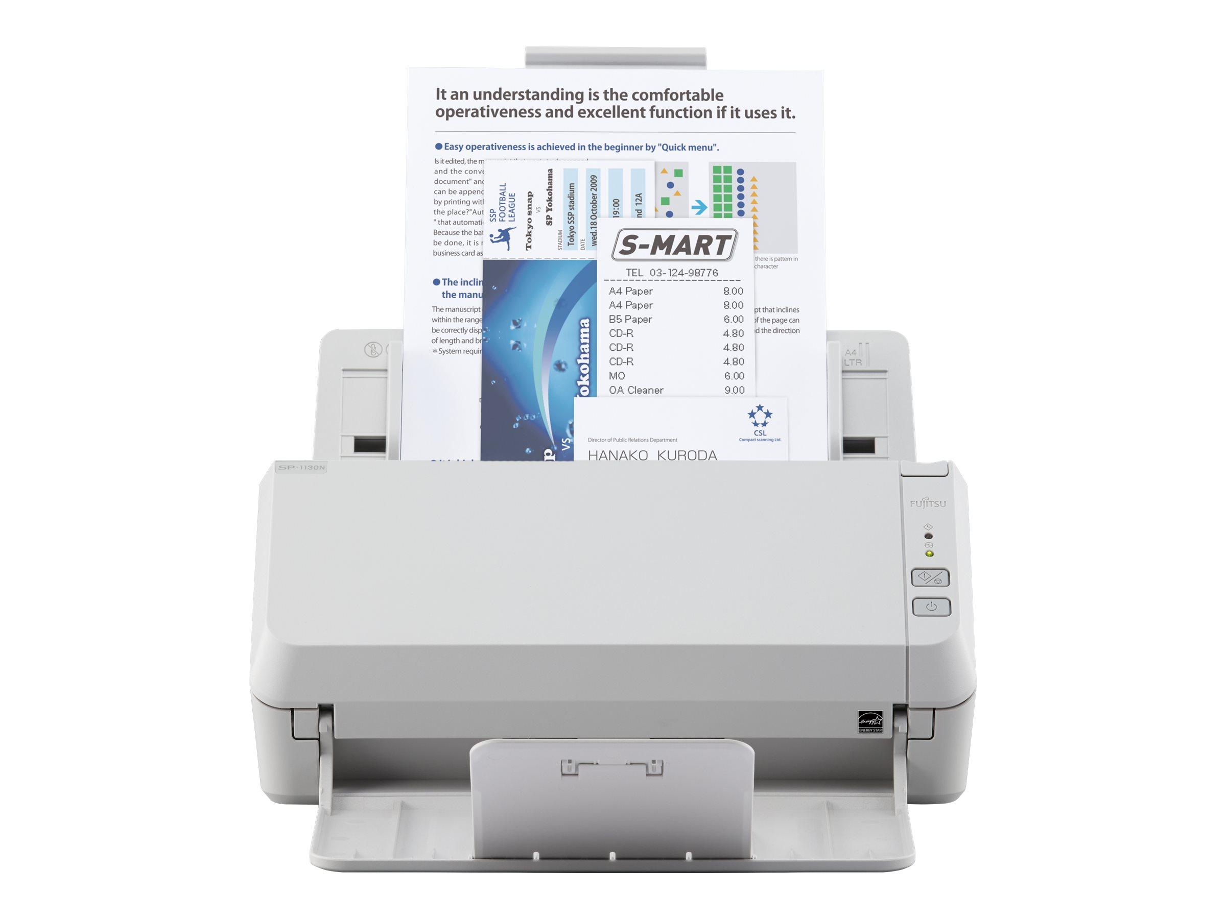 Fujitsu SP-1130N - Dokumentenscanner - Dual CIS - Duplex - 216 x 355.6 mm - 600 dpi x 600 dpi - bis zu 30 Seiten/Min. (einfarbig)