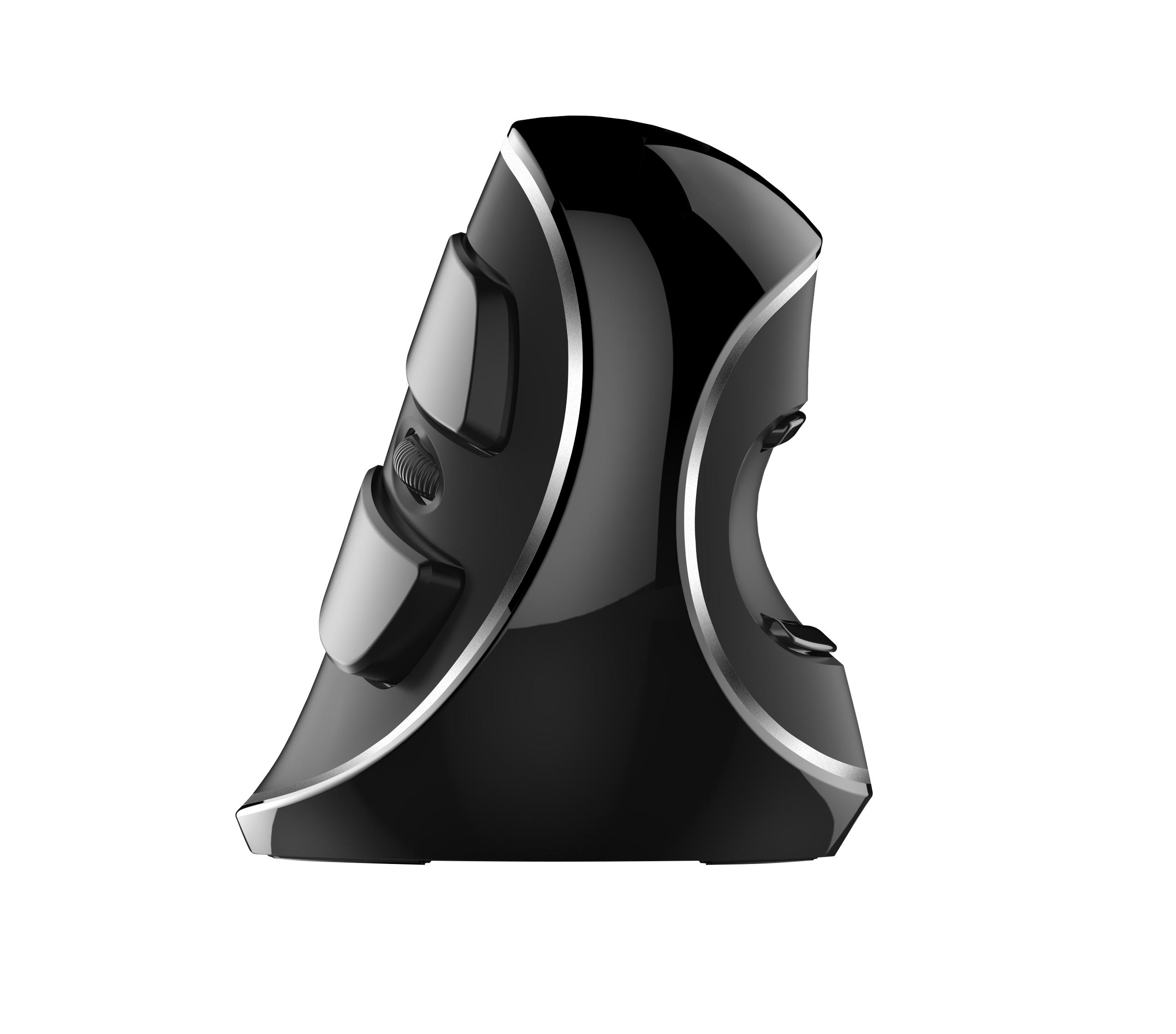 Spire CG-DLM618PL-2.4G - Linkshändig - Vertikale Ausführung - Optisch - RF Wireless - 1600 DPI - Schwarz