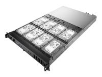 16TB Business Storage NAS Rack (1U) Eingebauter Ethernet-Anschluss Schwarz - Edelstahl