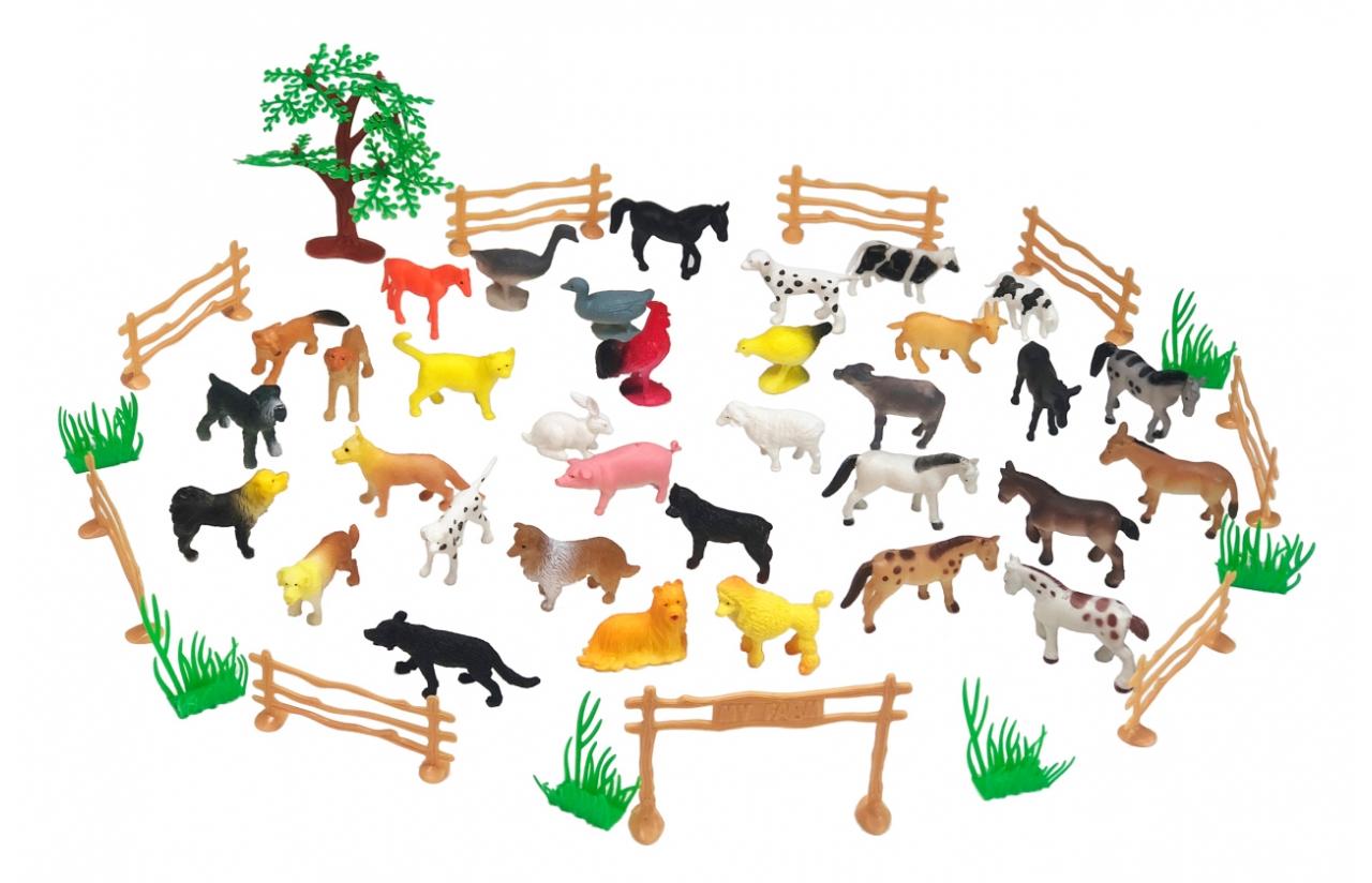 JAMARA Farm animals Set - 50 Stück(e) - Junge/Mädchen - 3 Jahr(e) - Kunststoff - Mehrfarben