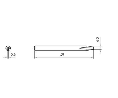 Weller Tools Weller SPI15 211 - Lötspitze - Weller - SPI 16 - 1 Stück(e) - 2 mm - 4,5 cm