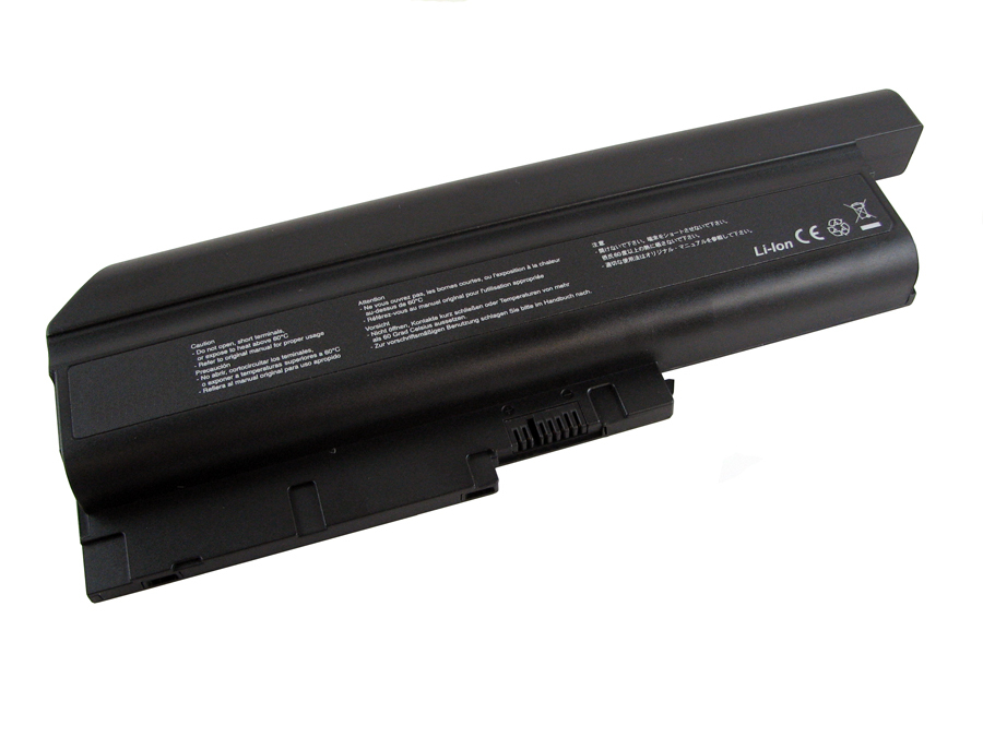 V7 Laptop-Batterie ( High Capacity ) - 1 x Lithium-Ionen 7200 mAh - für Lenovo ThinkPad R500; SL300; SL400; SL500; T500; T61; W500; Z61...