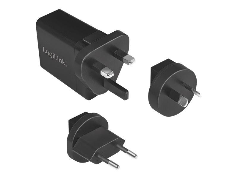 LogiLink USB Travel Charger - Netzteil - 18 Watt - 3 A - QC 3.0 (USB mit QC 3.0)