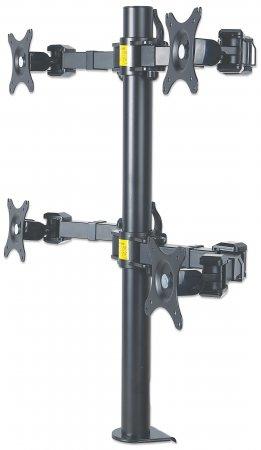 Manhattan Verstellbarer Arm für 4 LCD-Anzeigen - Druckgussmetall - 10-30 )