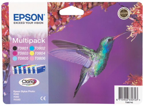 Epson Multipack 6 Farben T0807 Claria Photographic Ink
