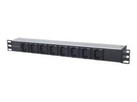 163651 Stromverteilereinheit (PDU) 1U Schwarz - Silber 8 AC-Ausgänge