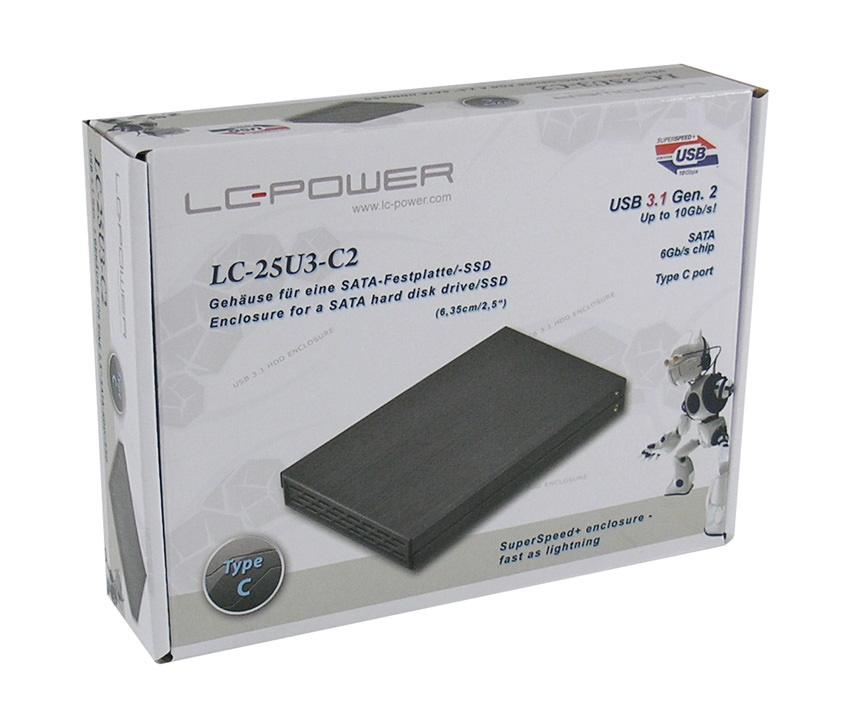 """LC Power LC-25U3-C2 - Speichergehäuse - 2.5"""" (6.4 cm)"""
