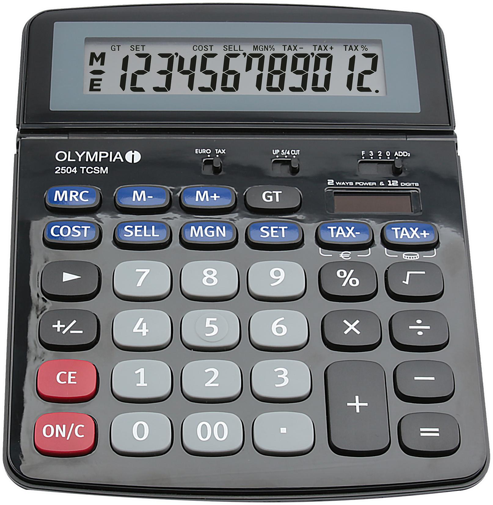 Olympia - 2504 TCSM - Taschenrechner - 12-stellige Anzeige -schwarz