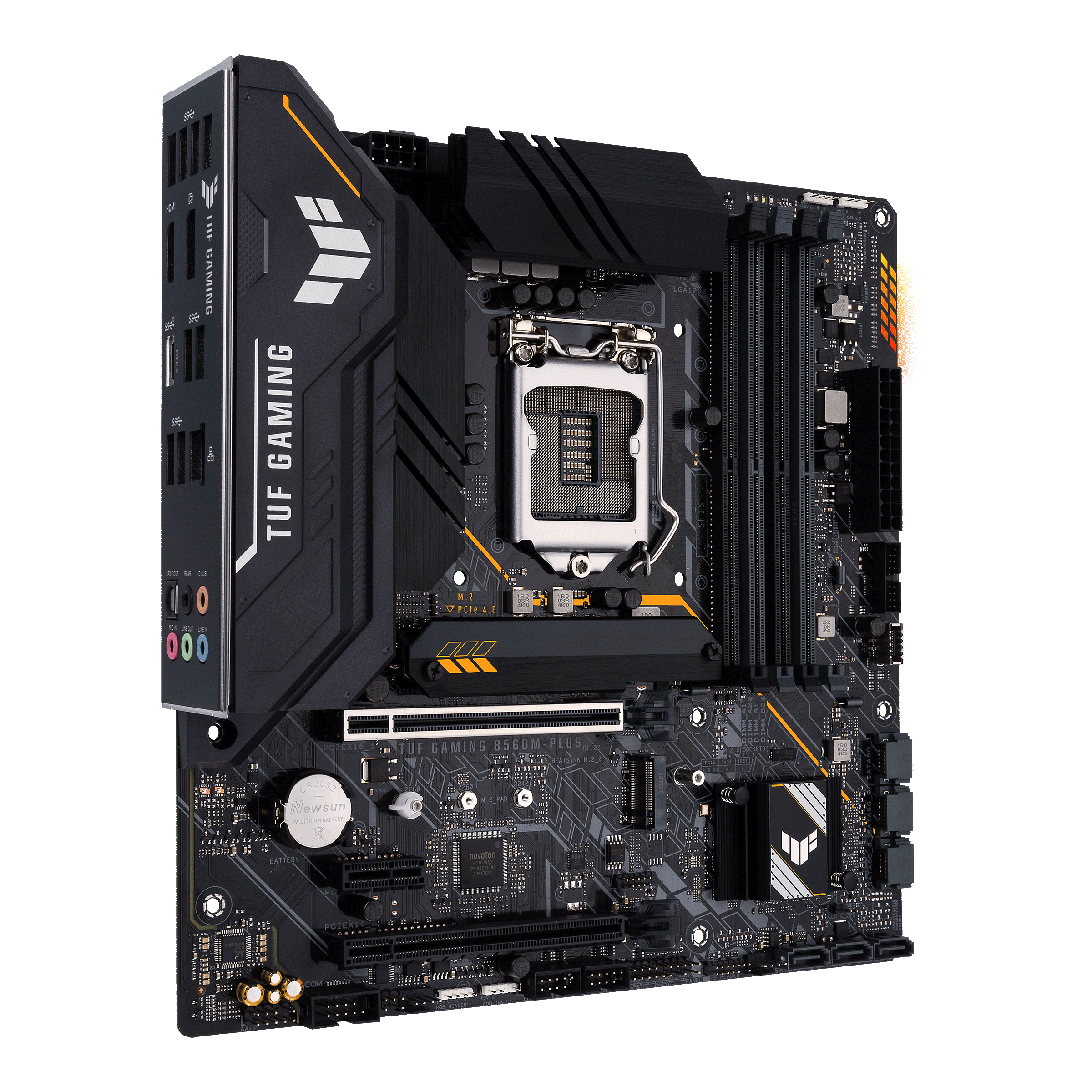 ASUS TUF GAMING B560M-PLUS - Motherboard - ATX - LGA1200-Sockel - B560 - USB-C Gen1, USB 3.2 Gen 1, USB 3.2 Gen 2 - 2.5 Gigabit LAN - Onboard-Grafik (CPU erforderlich)