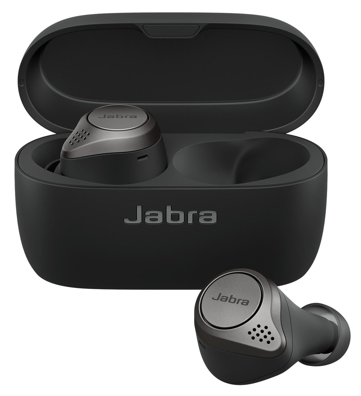 Jabra Elite 75t Trådløs Grå Sort Ægte trådløse øretelefoner