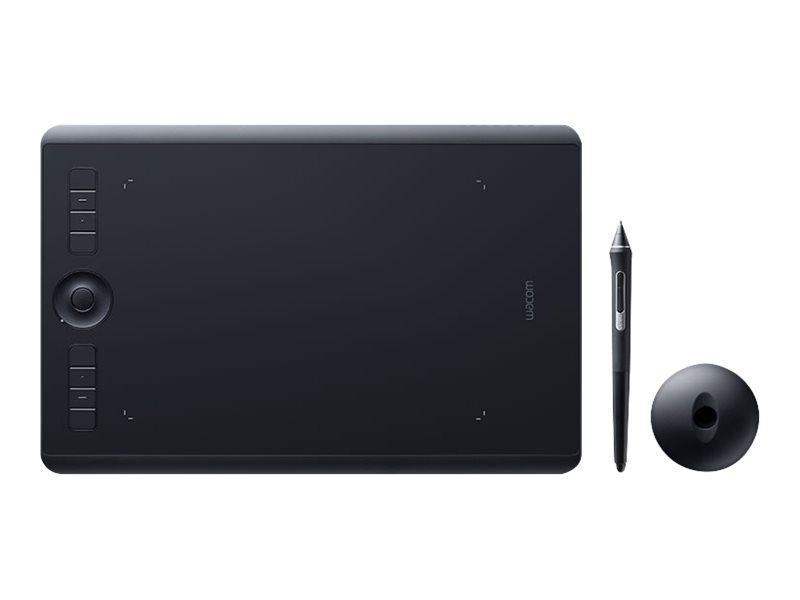 Wacom Intuos Pro Medium - Digitalisierer - rechts- und linkshändig - 22.4 x 14.8 cm - Multi-Touch - elektromagnetisch - 8 Tasten - USB, Bluetooth