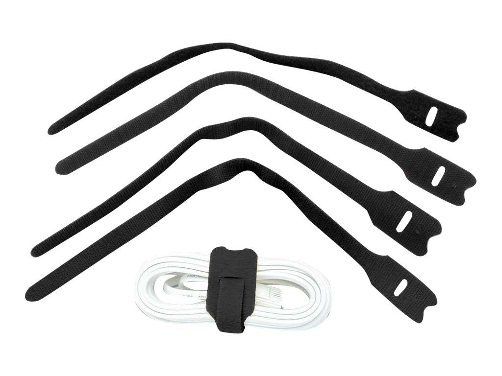 Lindy Hook and Loop - Kabelbinder - 20 cm - Schwarz (Packung mit 10)