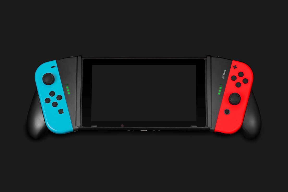 Nitho NSW-VGRIP-K - Steuerungsgrip - Nintendo Switch - Schwarz