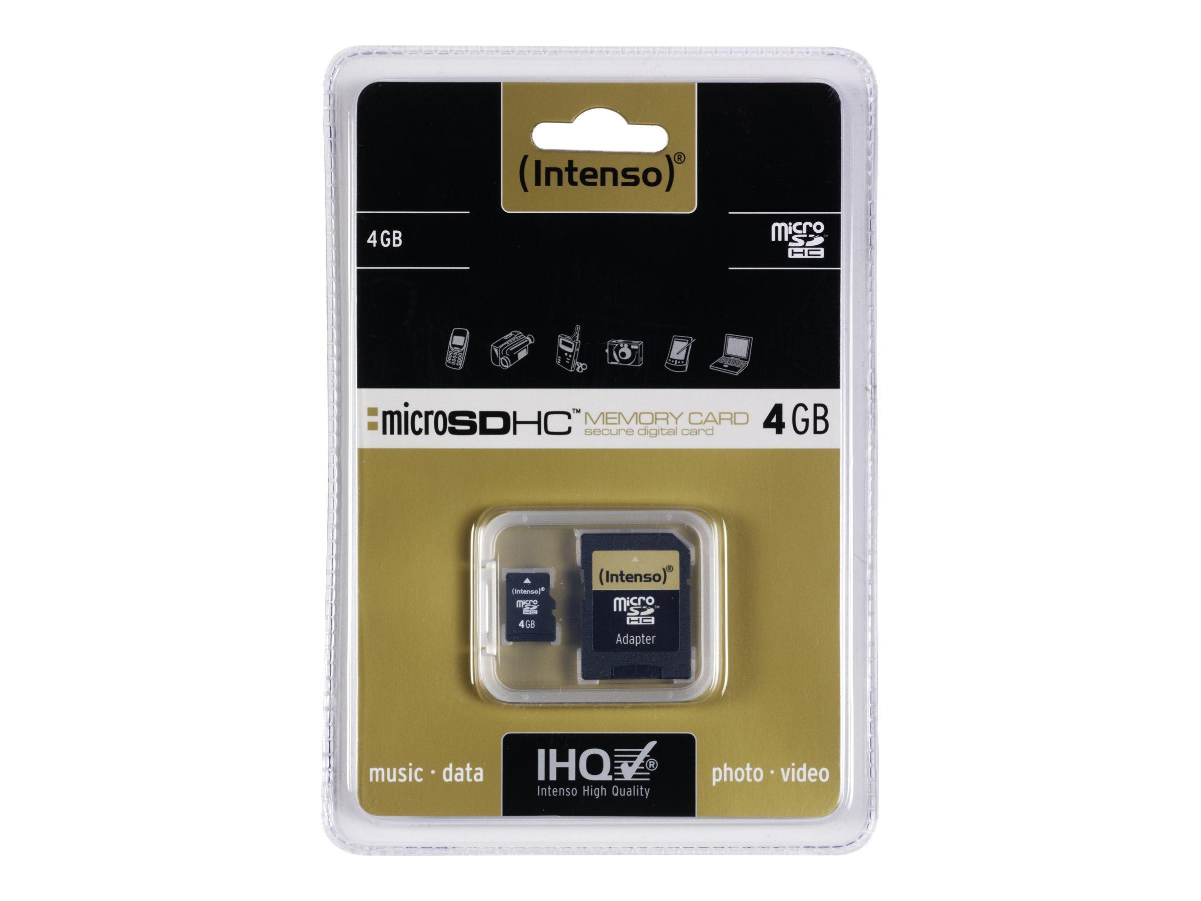 Intenso Flash-Speicherkarte (microSDHC/SD-Adapter inbegriffen)