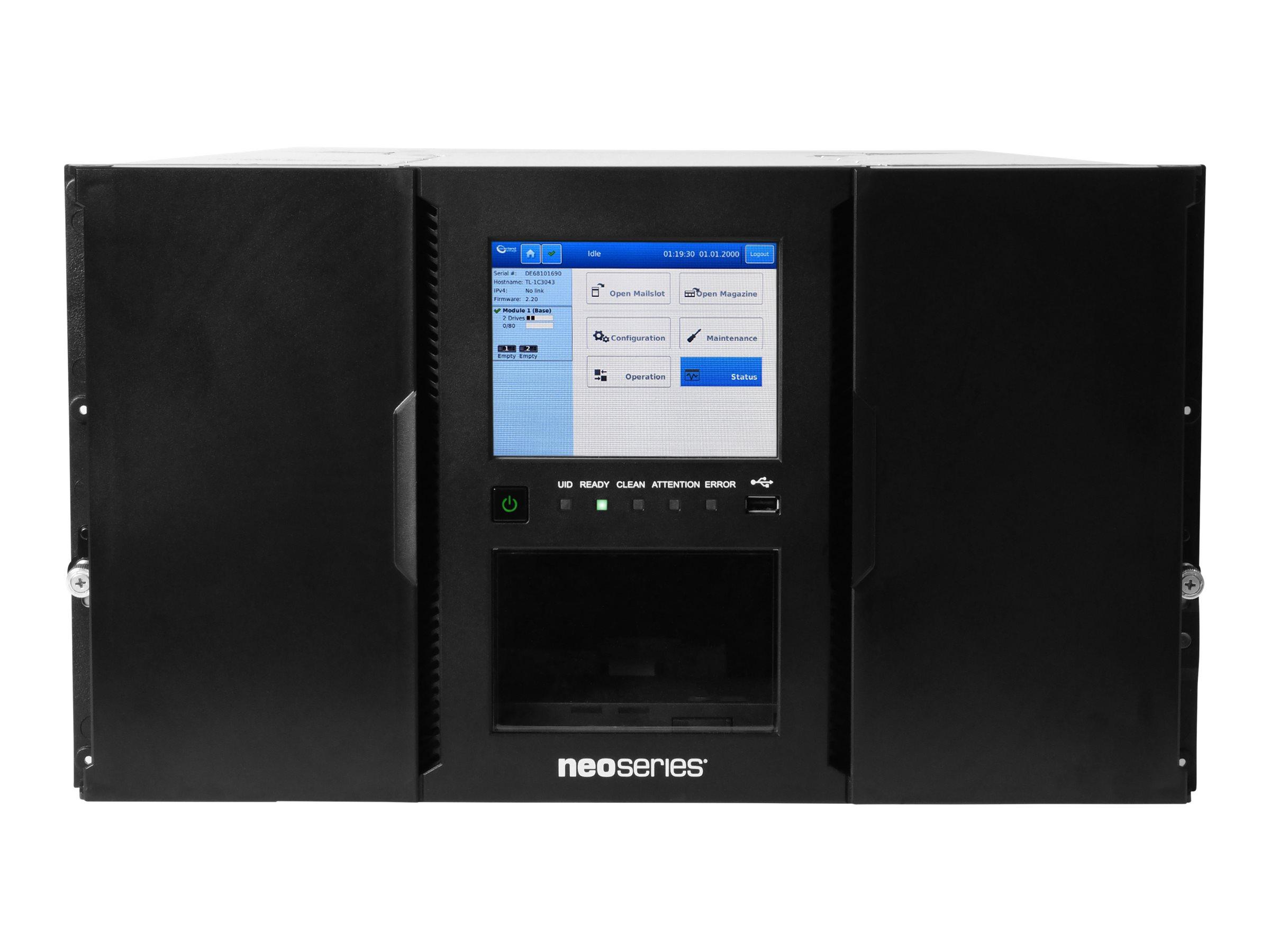 Overland Tandberg NEOxl 80 - Bandbibliothek - 200 TB / 500 TB - Steckplätze: 80 - LTO Ultrium (2 TB / 5 TB)