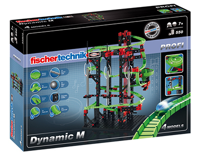 fischertechnik Dynamic M - Physik-Baukasten - 7 Jahr(e) - 550 Stück(e) - Schwarz - Grün - Rot - Stahl - 465 mm