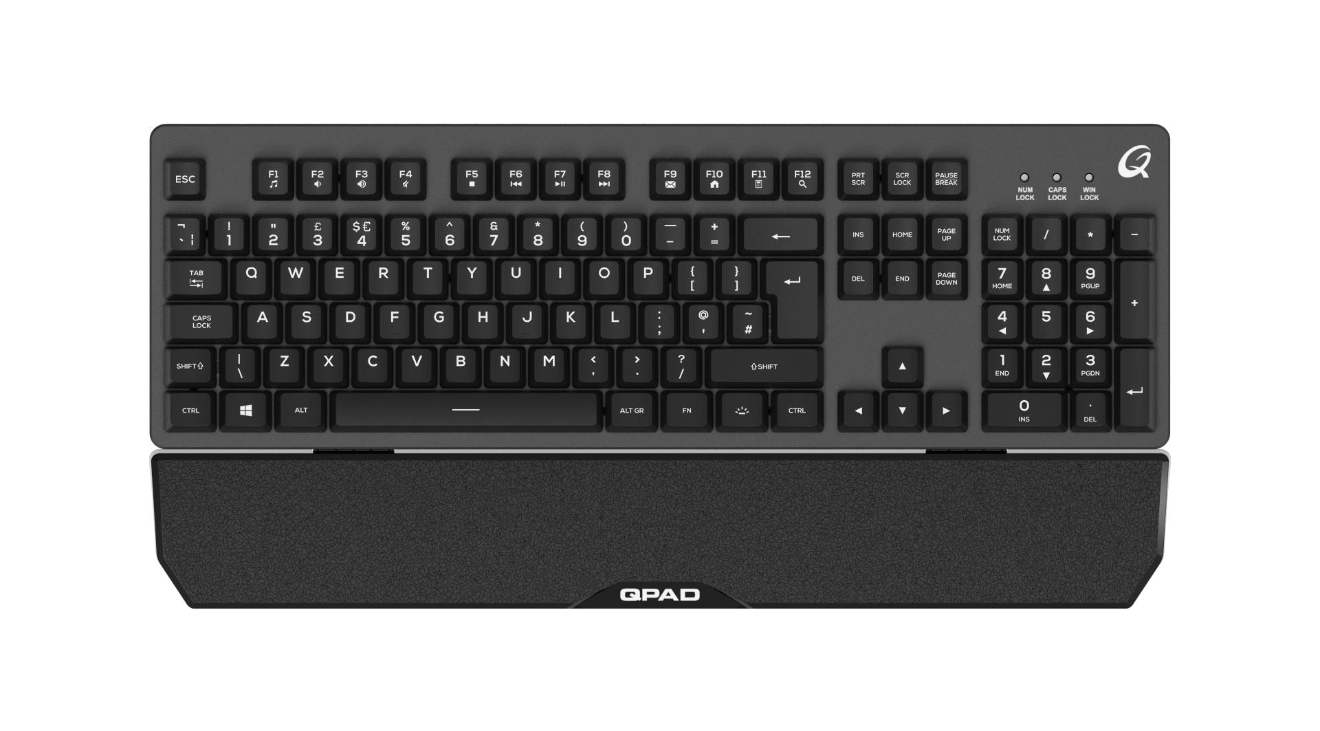QPAD MK-40 - Standard - USB - Membran-Schlüsselschalter - QWERTY - RGB-LED - Schwarz