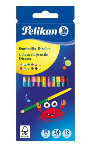 Pelikan 700146 - Bicolor - Bunstifte - 12 Stück