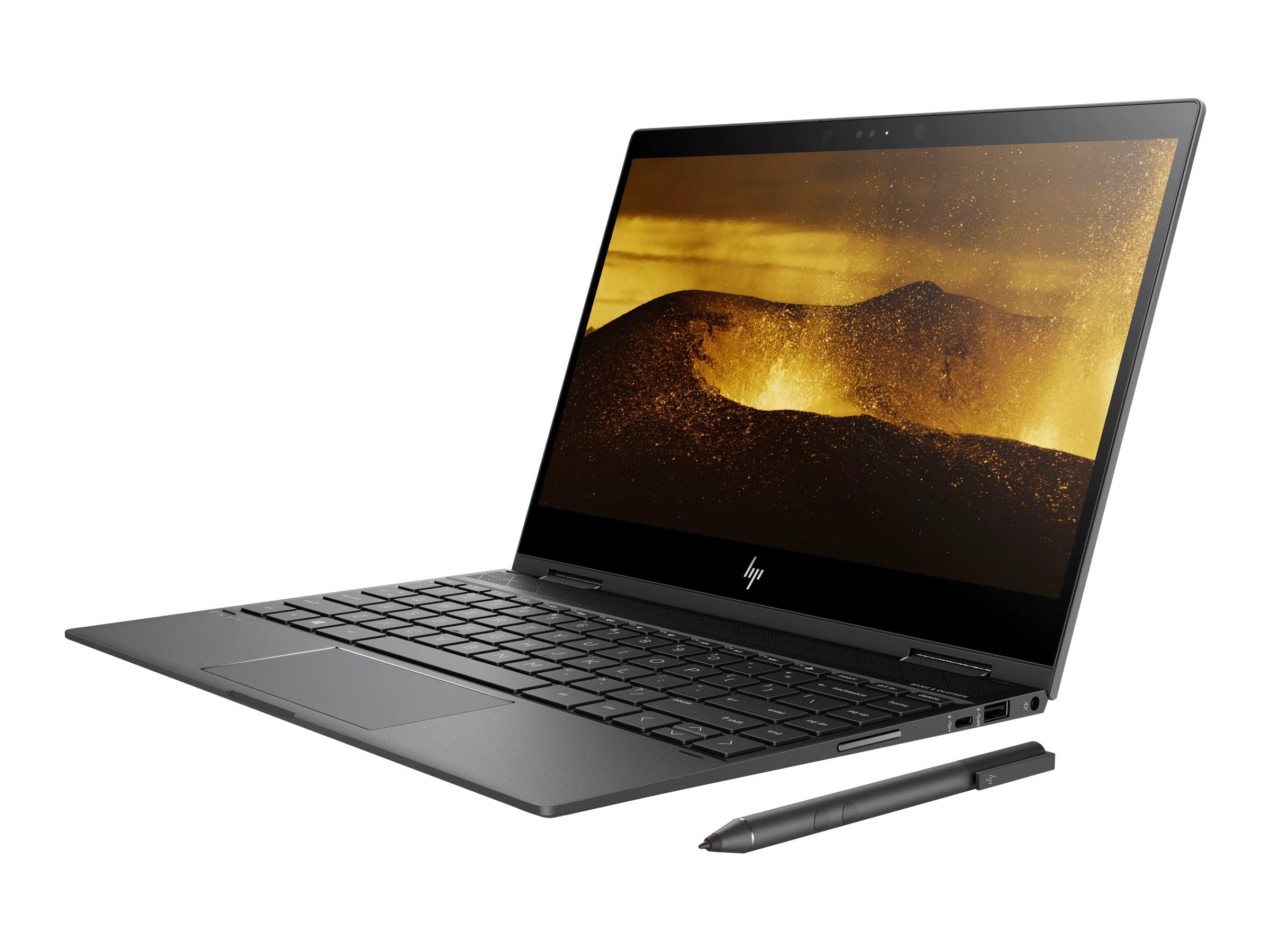 HP ENVY x360 13-ag0001ng 2GHz 2500U AMD Ryzen 5 13.3Zoll 1920 x 1080Pixel Touchscreen Schwarz - Silber Hybrid (2-in-1)