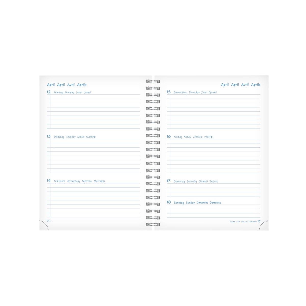 Herlitz Schülerkalender GREENline A5 21/22 Ginkgo Wochenkale
