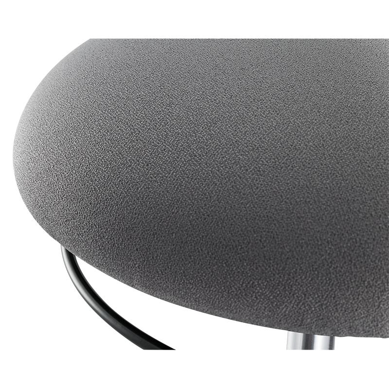 LogiLink Höhenverstellbarer Bürohocker - Gepolsterter Sitz - Grau - Stoff - Schwarz - 1 Stück(e) - 113 kg