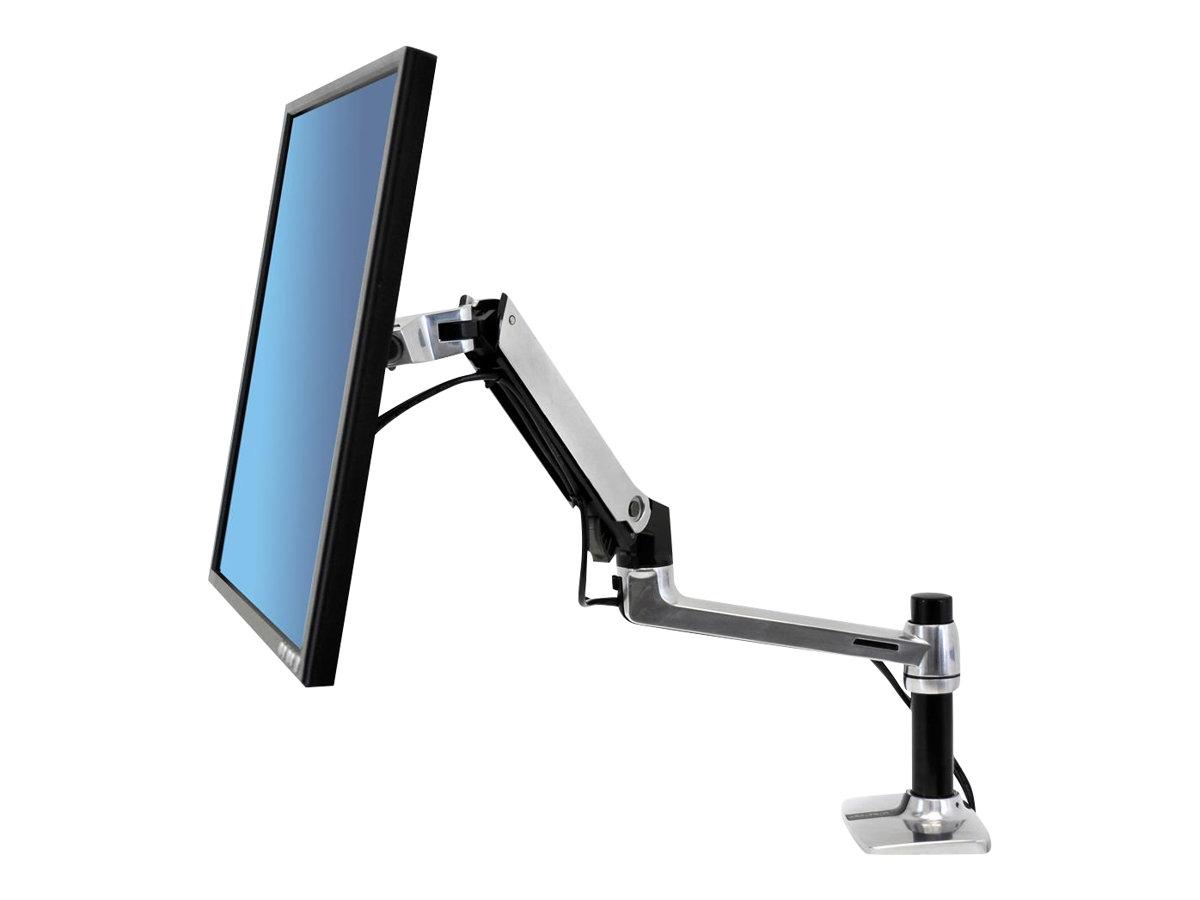 """Ergotron LX Desk Mount LCD Arm - Befestigungskit (Gelenkarm, Spannbefestigung für Tisch, Erweiterungsadapter, Befestigung für Kabeldurchgang, 7""""-Säule)"""