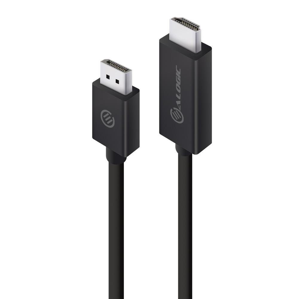 Alogic ELDPHD-02 - 2 m - DisplayPort/HDMI - Männlich - Schwarz
